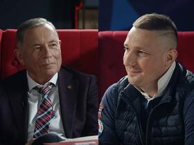 Владимир Линев (слева) и Роман Пахолков. Кадр из видео на канале INSYNC TV