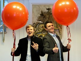 Валерьян Брунин (справа) и Артем... Фото из личного архива