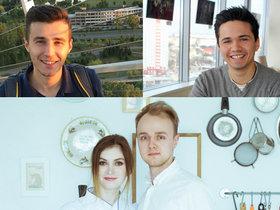 Натали Подоляк и Дмитрий Буко, Михаил Мысник (слева), Никита Чаков