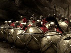 Кадр из фильма 300 спартанцев, 2006 г.