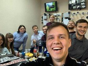 Сергей Кирьянов с командой. Фото из личного архива