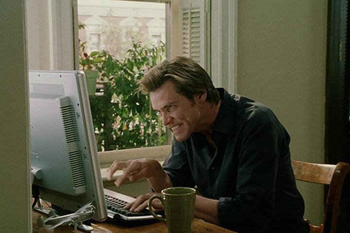 Кадр из фильма «Брюс всемогущий», реж. Том Шэдьяк