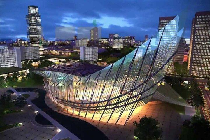 Скриншот видео на канале Singapore-Sichuan Hi-Tech Innovation Park на YouTube