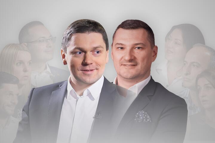 Ведущие прямого эфира Виталий Волянюк и Евгений Вяткин
