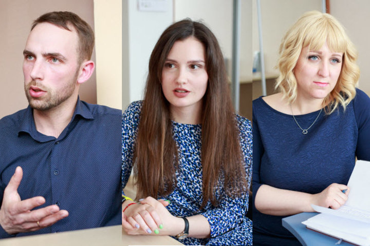 Виталий, Дарья и Ольга. Фото: Алексей Пискун, probusiness.by