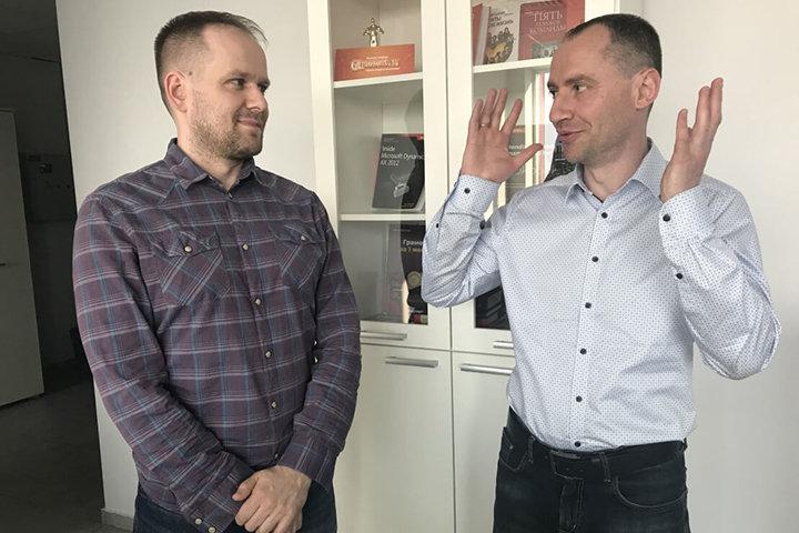 Александр Рогожный и Дмитрий Рыжевич. Фото предоставлено автором
