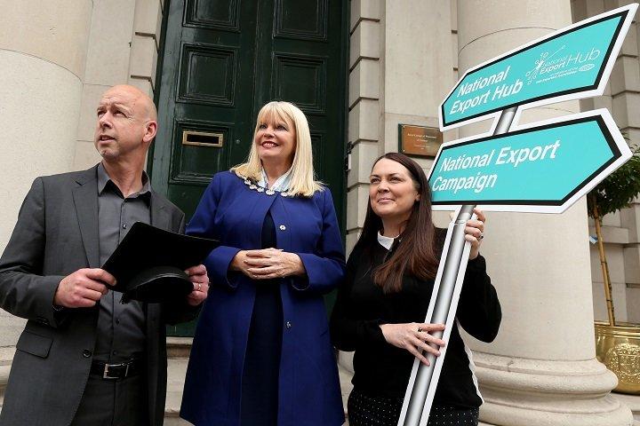 В центре: Мэри Митчелл О'Коннор, министр повопросам занятости, предпринимательства иинновациям Ирландии. Фото с сайта  www.irishexporters.ie