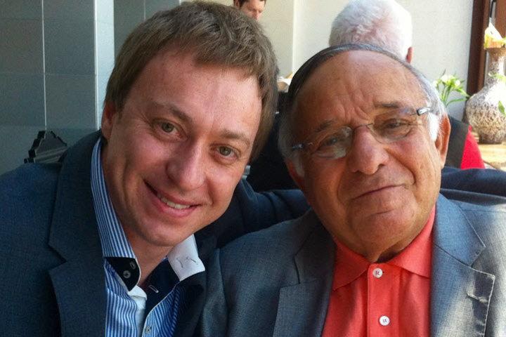 Алексей Капуста и Ицхак Адизес. Фото из личного архива Алексея