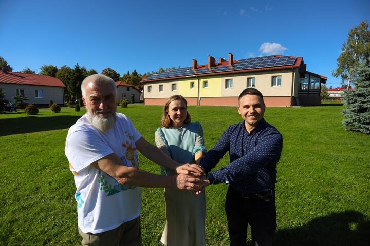 ФОТО: В SOS-Детской деревне Могилев установили 300 солнечных панелей и воздушный тепловой насос по итогам акции «100 гадзін з А1»