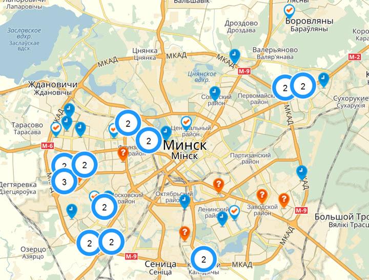 Расположение Школ робототехники в Минске
