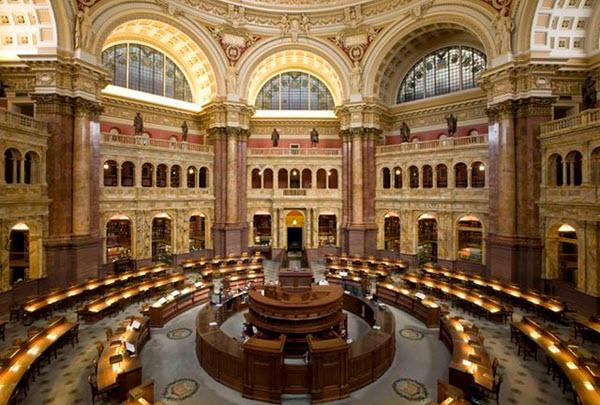 Библиотека Конгресса США. Фото с сайта www.tourist-v-amerike.ru