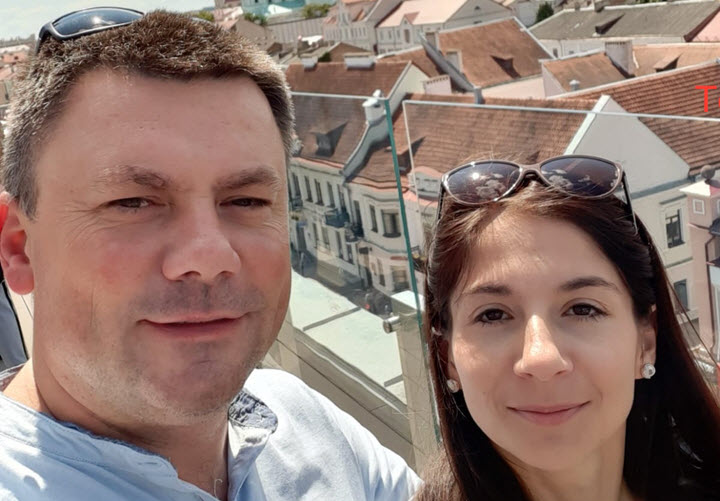 Виктория Романчук иВиталий Шиянов. Фото изличного архива автора