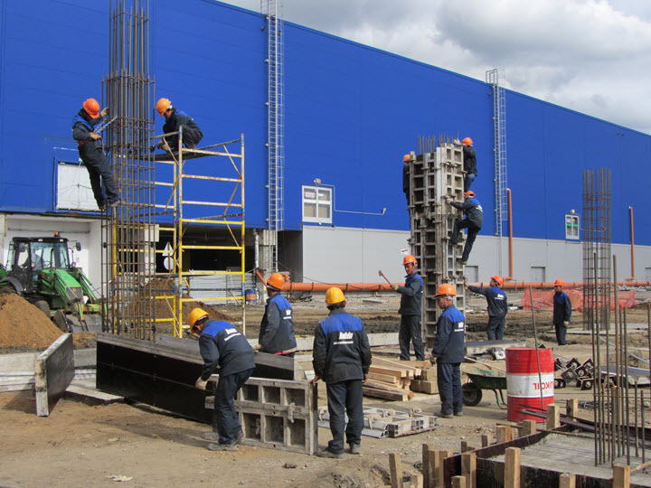 Строительство пристройки к ТЦ Икеа. Фото с сайта bigbo.ru
