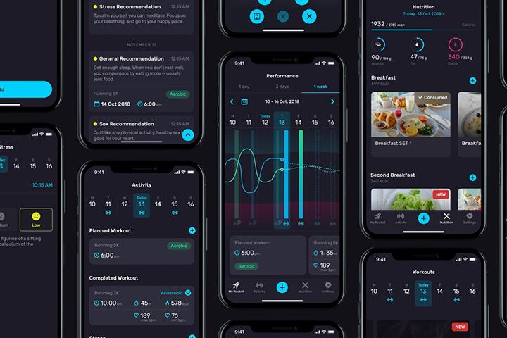 Скриншоты приложения RocketBody