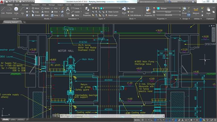 Скриншот из программы AutoCAD