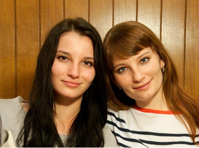 Анна Юркевич с сестрой. Фото из личного архива