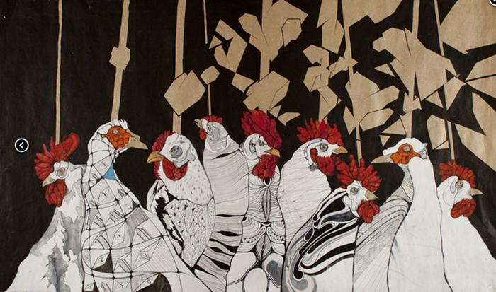 Картина художника BAZINATO. Скриншот с сайта ygallery.by