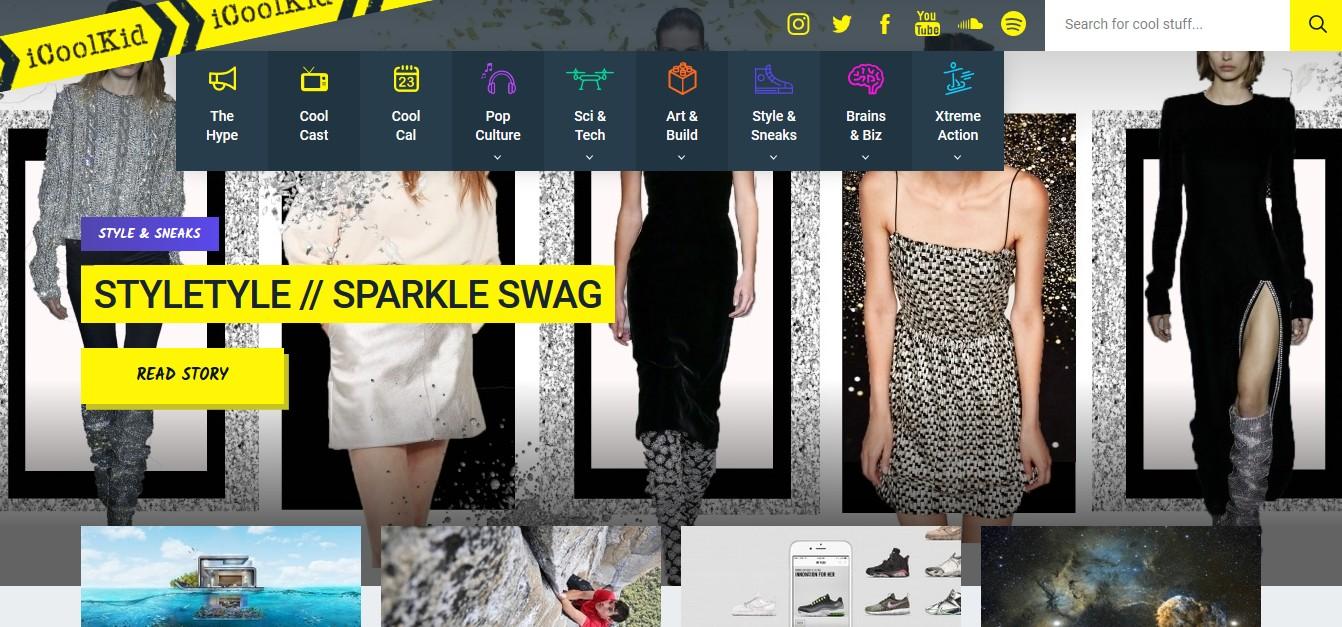 Скриншот сайта icoolkid.com