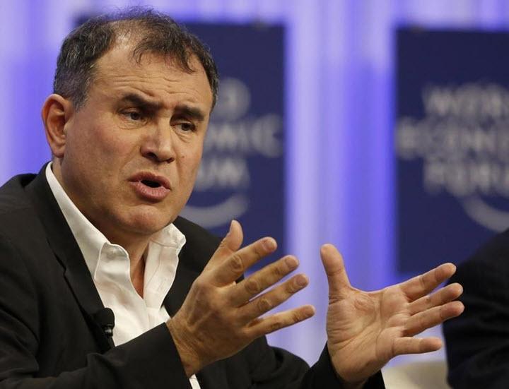 Нуриэль Рубини на Всемирном экономическом форуме в Давосе. weforum.org