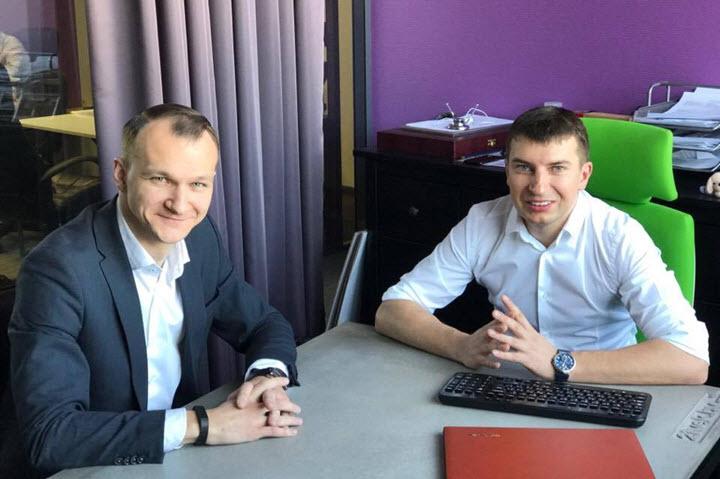 "Андрей Филон и Сергей Вайнилович. Фото предоставлено ""Зубр Капитал"""