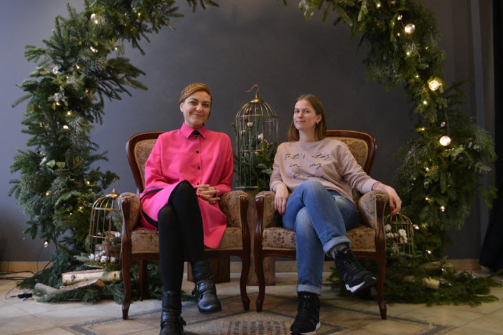 Наталья Бертош с Асей Поплавской. Фото из личного архива
