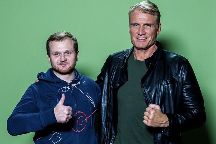 Павел Фирсов с актером Дольфом Лундгреном. Фото предоставлено автором