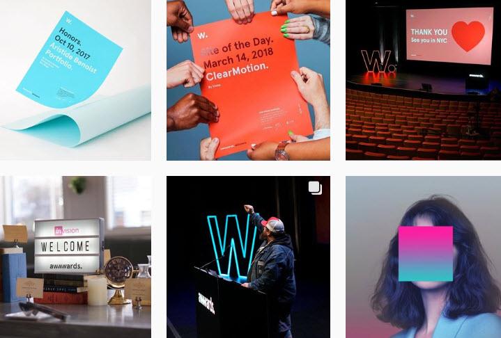 Скриншот из группы awwwards. в Instagram