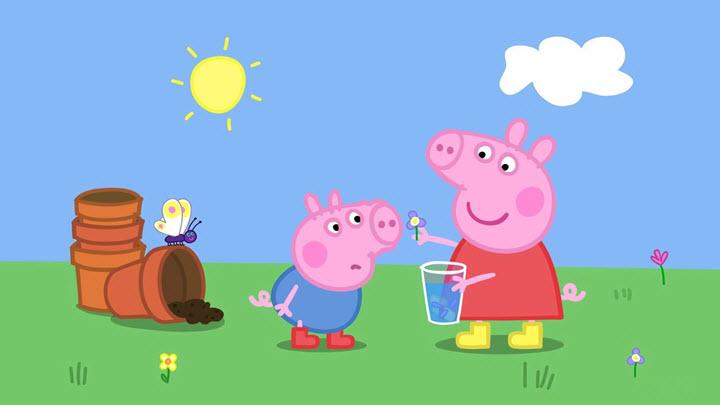 """Скриншот из мультфильма """"Свинка Пеппа"""""""