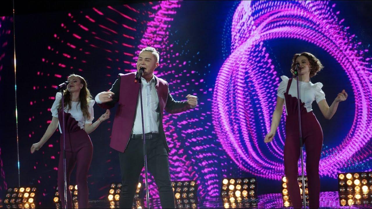 Кирилл Гуд на финале отбора на Евровидение-2018 в Беларуси. Скриншот с YouTube