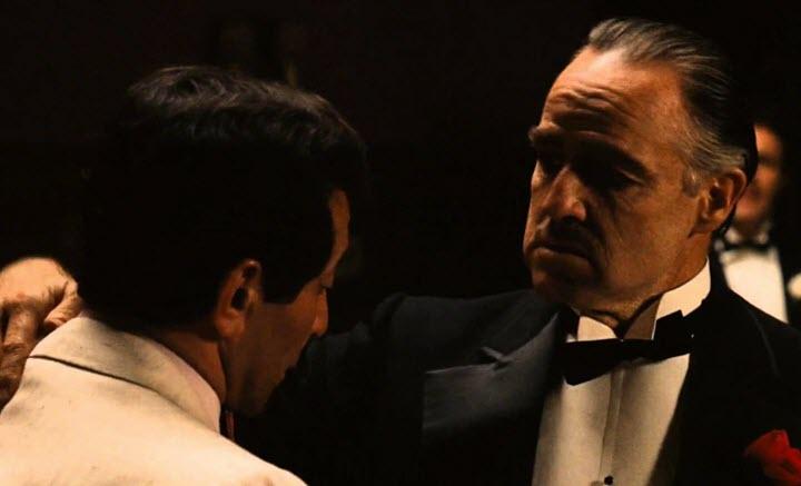 """Кадр из фильма """"Крёстный отец"""", реж. Фрэнсис Форд Коппола"""