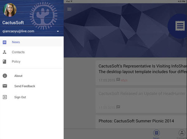 Скриншот экрана приложения Wisp Handbook