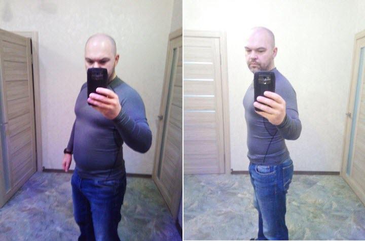 Дмитрий Бурак до и после похудения. Фото из личного архива