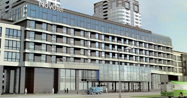 Эскиз гостиницы Novotel. Иллюстрация с сайта lada-park.by