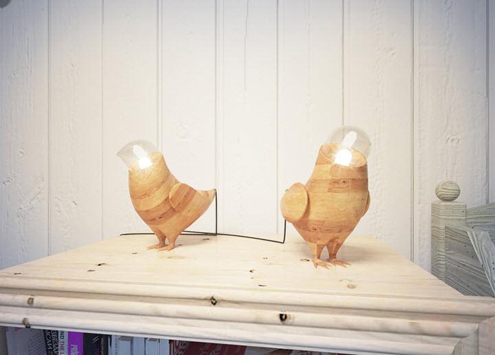 Лампы Marina's birds. Фото с сайта fajnodesign.by