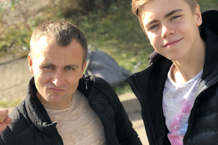 Андрей Пекуров с сыном. Фото из личного архива