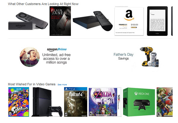 Скриншот с сайта amazon.com