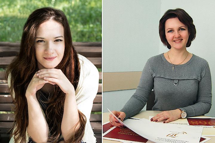 Кира Слижикова и Елена Патей