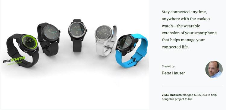 Скриншот с сайта kickstarter.com