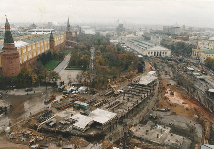 """Строительство ТЦ """"Охотный ряд"""". Фото с сайта varlamov.ru"""