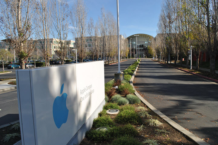 Штаб-квартира Apple в Купертино. Фото с сайта insider.biz
