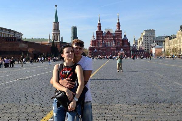 Юлия Левкович с мужем Антоном. Фото из личного архива