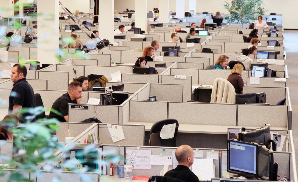 Колл-центр Bank of America, фото с сайта nytimes.com