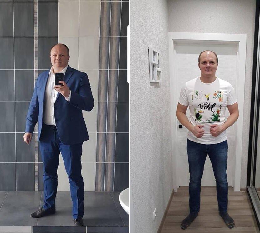 Дмитрий Меншиков до и после похудения. Фото из личного архива