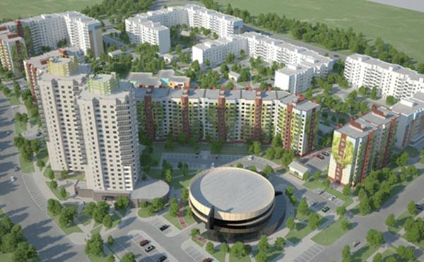 В 2014 году «А-100 Девелопмент» начала строительство района «Новая Боровая». Фото a-100development.by
