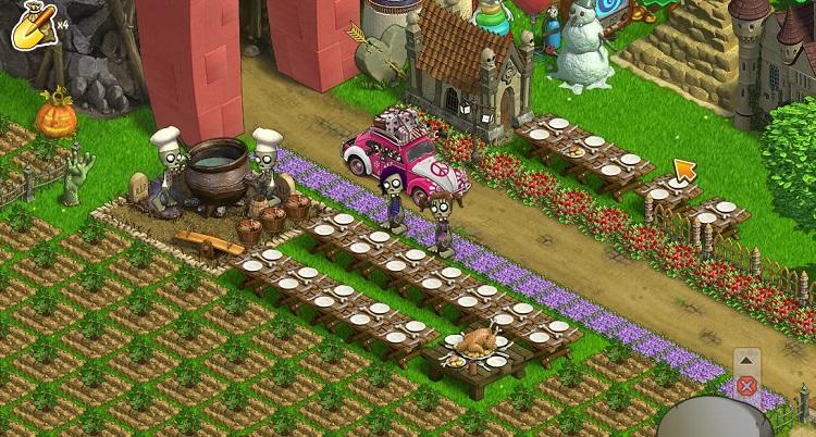 Экран игры «Зомби Ферма». Скриншот с сайта vkeep.ru