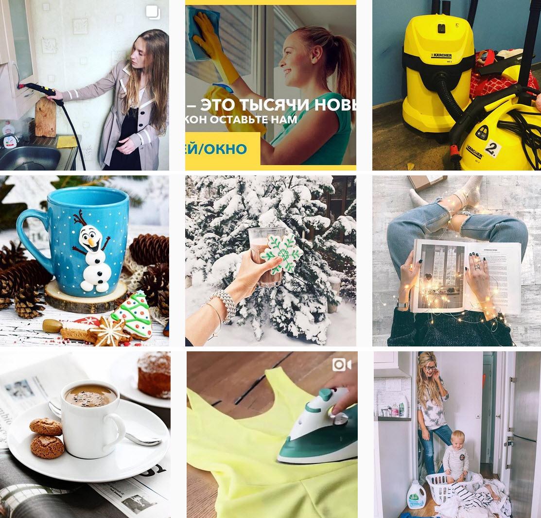 Скриншоты из публикаций трех клининговых служб в Instagram