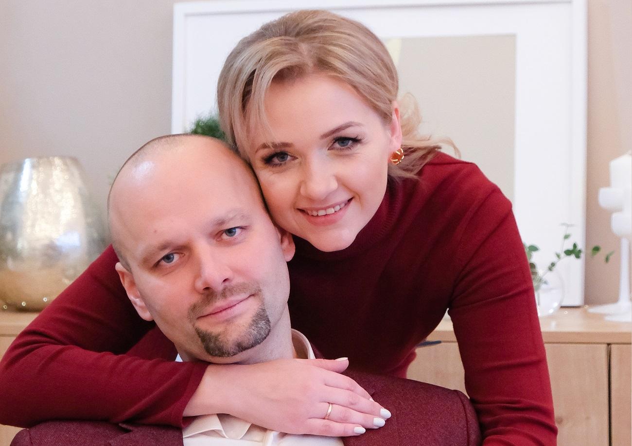 Дарья Сенькова с супругом Андреем. Фото из личного архива