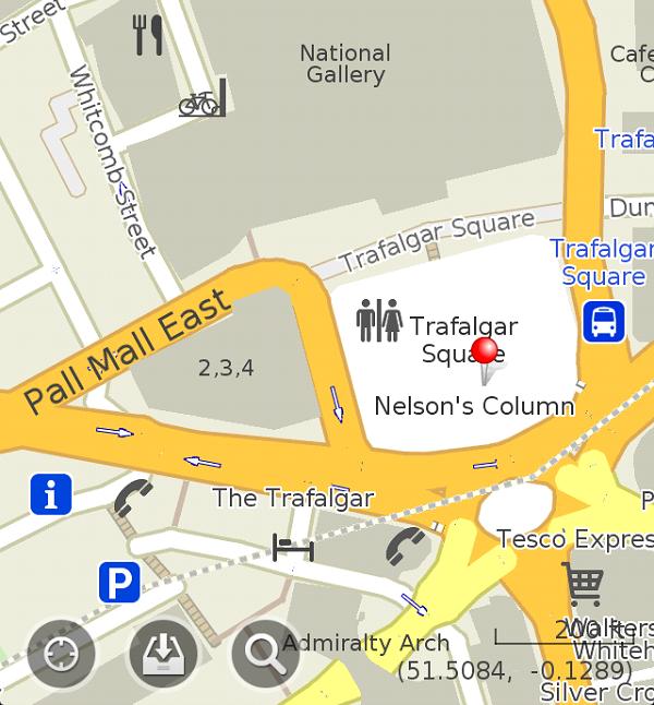 Экран приложения maps.me