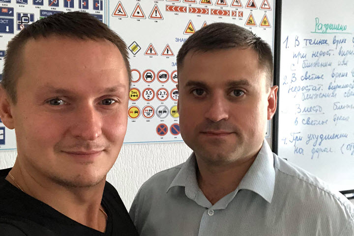 Дмитрий Калистратов с партнером. Фото из личного архива