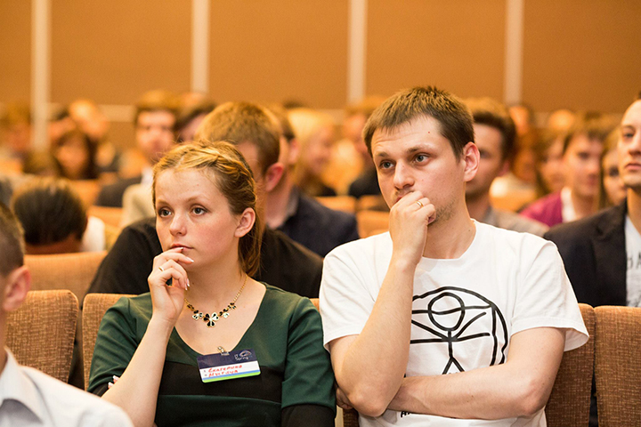 Вадим Мустяца с супругой. Фото из аккаунта в Facebook IT Spring Conference